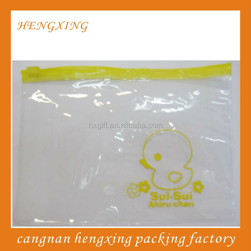 Clear PVC Zipper Bags With Thick <strong>Material</strong>