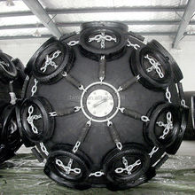 High quality marine supplies marine rubber fenders with tire and chain