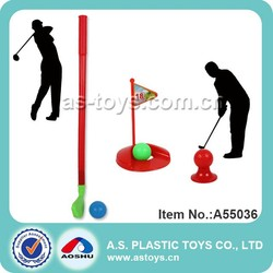 mini plastic toy golf club set for kids
