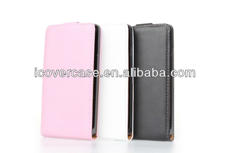 Genuine leather flip Case For LG P760(Optimus L9)