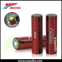 Wholesale 18650 battery aoso imr18650 40a 2500mah powerful battery for dewalt tools 18650 li ion battery 3.7v