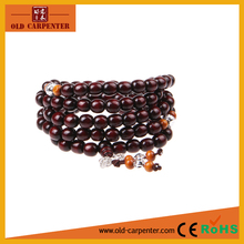 Vajra Tibetan barrel beads 0.6/ 0.8cm*108pcs wooden round small bead bracelets