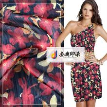 New promotion eco friendly screen printed chiffon italian crepe fabric