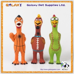 LT5006 No wings chicken dog Latex Toy, wholesale cartoon latex pet dog toy