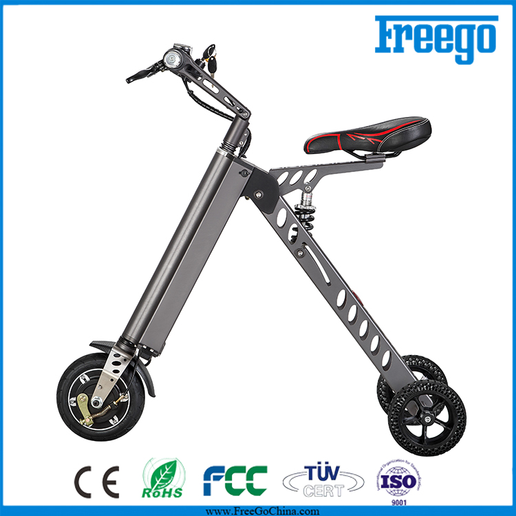 Freego 250W motor smart drifting scooter folding 3 wheel electric scooter for adult
