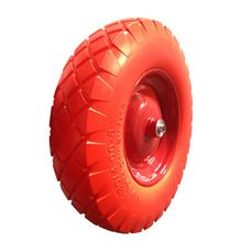 Best quality puncture proof pu wheel 4.00-8/3.50-8/3.50-4 for barrow