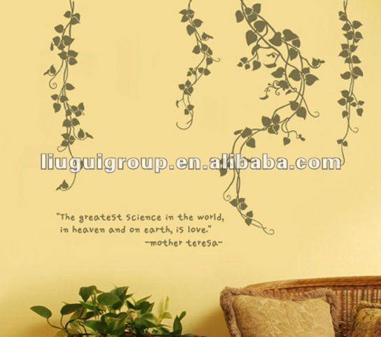 Fashion removable anti-water wall sticker & wall decals