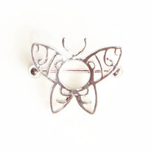 Stainless steel butterfly nipple ring nipple stretching piercing jewelry