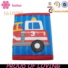 children wallet with fire engine embroider