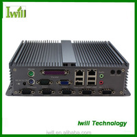 Iwill IBOX-D2550A mini itx embedded fanless box pc with VGA and LVDS