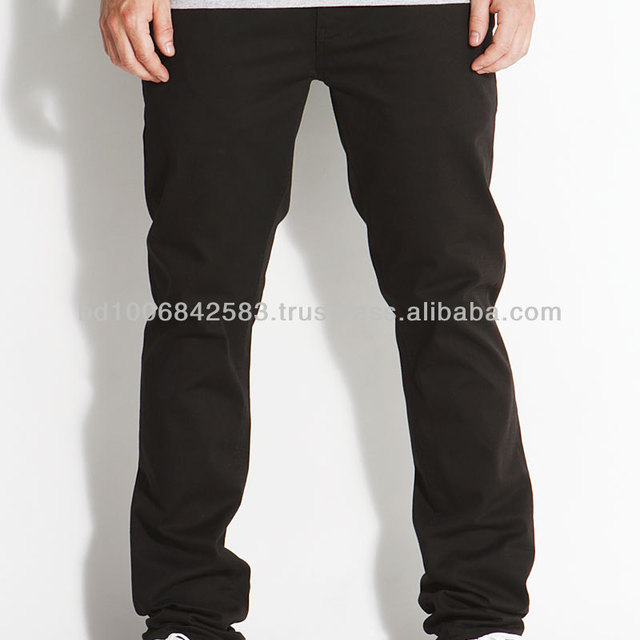 baggy fitted mens chino pant