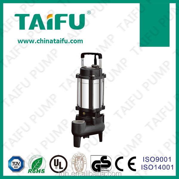 TAIFU brand 230V double sealed stainless steel body sewage vacuum dewatering pump concrete