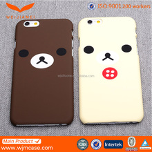 Shenzhen mobile phone accessories cute bear IML pc case for iphone 6plus