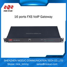 Excellent 16 fxs port voip gateway compatible with all pabx Asterisk VOIP IP phone