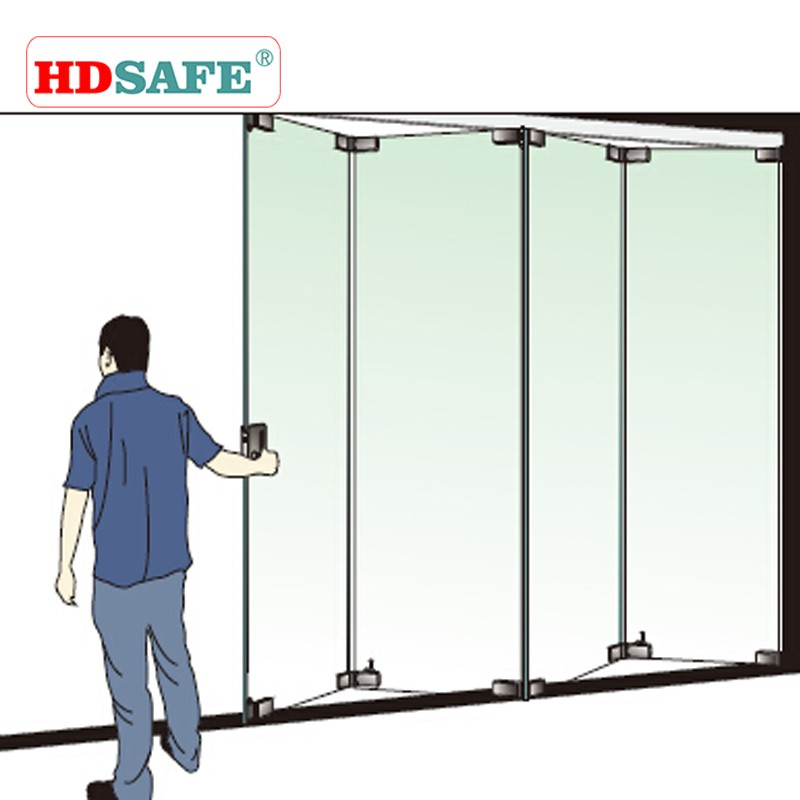 Aluminum frameless glass folding door by distributor wanted