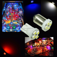 New Arrival lighting LED Pinball machine Light Bulbs Ba9s AC DC 6.3V #47 #555 White Red Blue Green Yellow PA