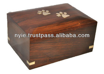 wooden pet ash box & urns