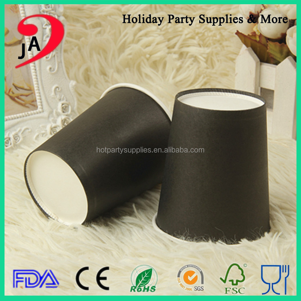 China Supplier Custom Food Grade Black Recyclable Paper Coffee <strong>Cup</strong> Manufacturers