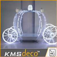 Newest factory sale simple design Led 3D lights pumpkin carriage led lights for wholesale
