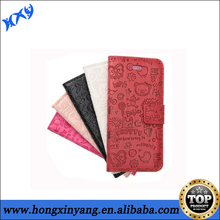 For iphone cheap full body pu leather cell mobile phone case