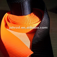 high strength flat polyester webbing strap for luggage and bags