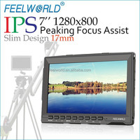 "New Feelworld 7"" Super Slim Wide Viewing Angle PS 1280X800 Camera HD LCD Field I Monitor"