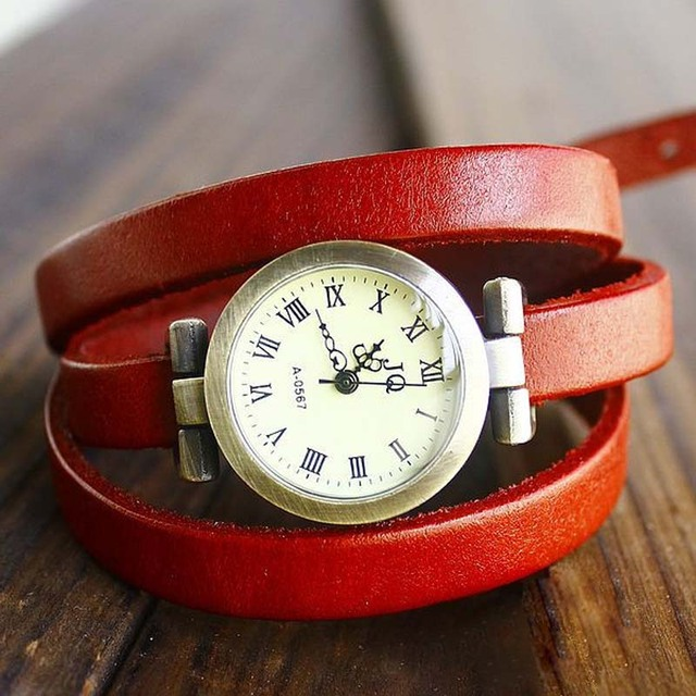 sloggi Hot-selling Genuine cow long leather vintage female quartz watch ROMA digital watch women dress watches