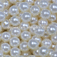 White Round Imitation Acrylic Pearl Round Spacer Loose Charms Beads DIY Wholesale Jewelry Making