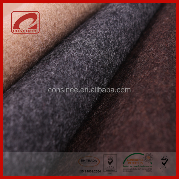 Consinee high end winter coat use cashmere blend wool and fabric
