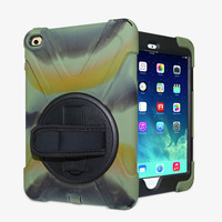 Newest Wholesale Full Cover Protector Armor Rugged Tablet Case For iPad 4