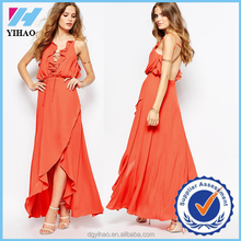 Yihao Vestidos de festa 2016 summer Sexy Women Lace Chiffon Split Maxi Dress Party Evening Long Dresses branco vestido de renda