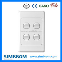 High quality Australian style 4 gang 2 way wall switch socket