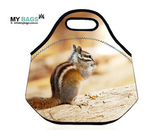 "Insulated Neoprene Lunch Bag for MenWomen Kids Extra Large 13.5""x13""x8""with LARGEST BASE to Fit Most Food Containers"
