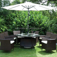 All Weather Outdoor Garden 8 Chairs Dining Set Rattan Furniture