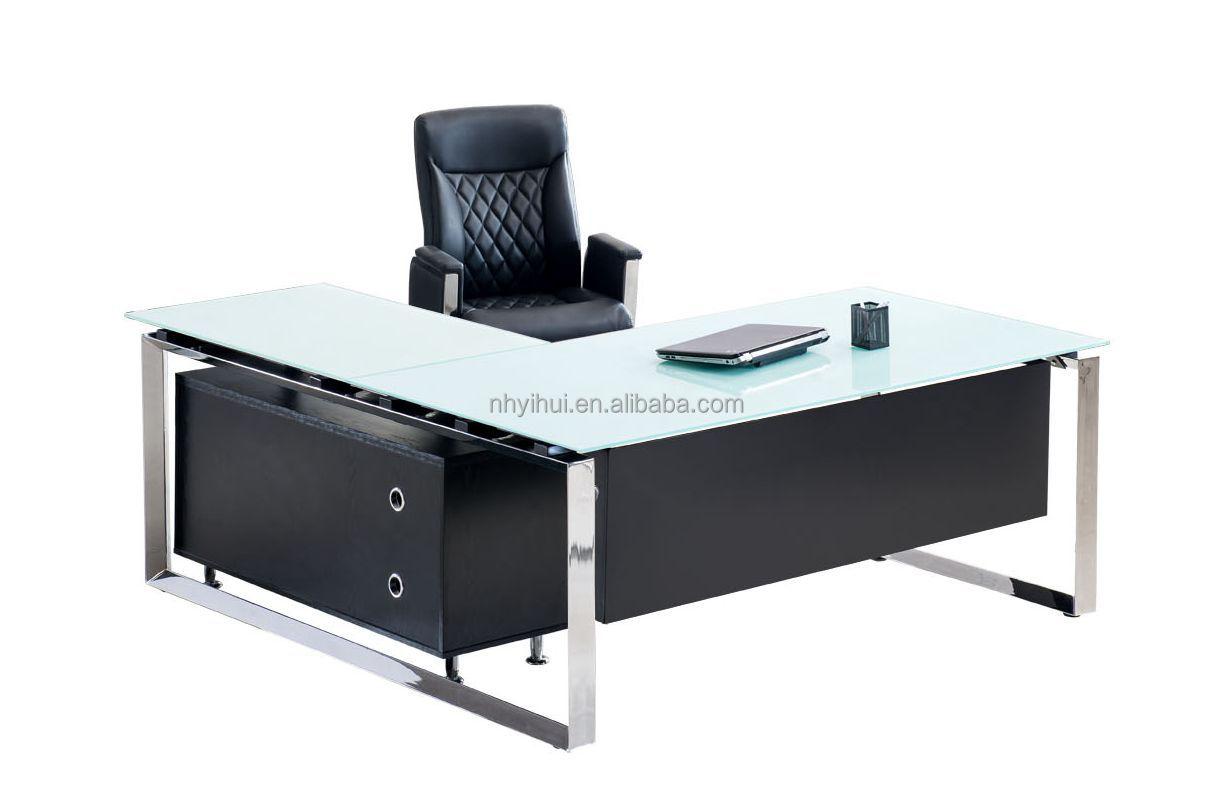 muebles de oficina escritorio ejecutivo de vidrio templadoMesas de