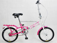 "HOT SALE 16"" STEEL FRAME SINGLE SPEED FOLDING BIKE"