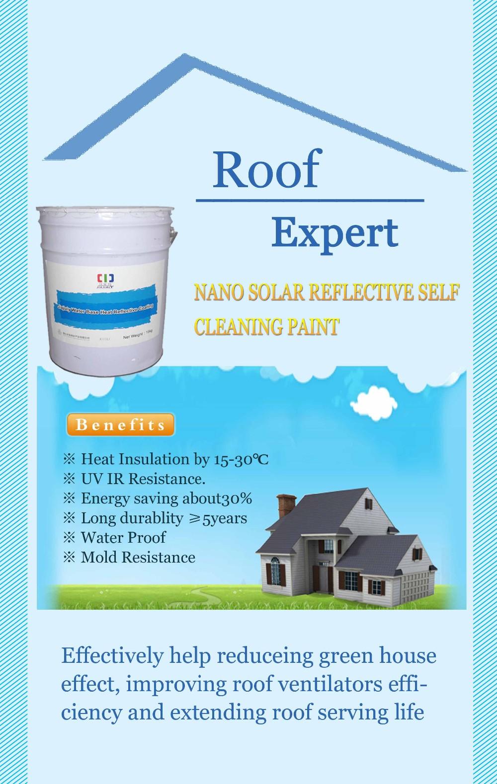Nano Solar Heat Reduction Reflective Heat Proof Roof Wall And Metal Paint View Nano Solar Heat