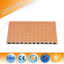 fireproof perforated 12mm laminated mdf acoustic tile ceiling