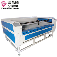 low cost automatic CO2 laser cutting machine for papern bag crafts clothes