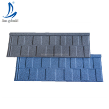 Factory price durable colorful stone coated metal zinc aluminum roofing materials solar shingles light weight ceramic roof tiles