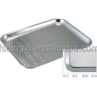 Eco-friendly rectangle stripe designing food serving tray