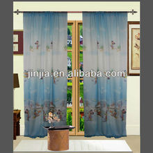 2013 Cartoon design printed curtain fabric for kid's room made in Shaoxin