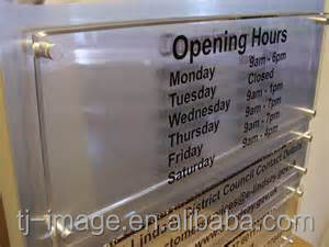 Clear acrylic sheet office sign advertising sign boards