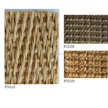 Sisal fabric any shape felt backing high quality living room carpet