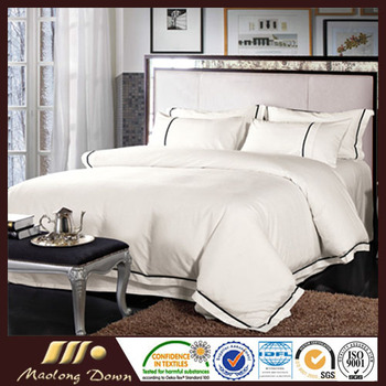 Latest design 100% cotton plain hotel duvet cover