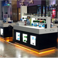 customized store furniture design for cosmetics cabinets store displays showcase