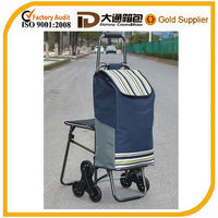shopping trolley bag with seat