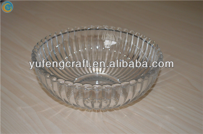 Chinese round transparent glass dinnerware,insulated glass bowl for food
