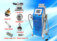 2015 Dual Ultraosund Vacuum Belly Fat Reduce Cavi Laser Beauty Machine