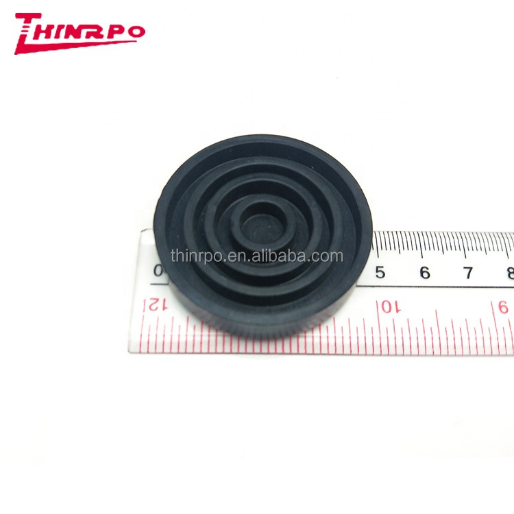 Custom recessed rubber bumper with metal plate/screw metal reinforcement rubber bumper feet silicone damper buffers